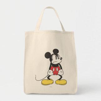 Actitud enojada clásica de Mickey el | Bolsa Tela Para La Compra