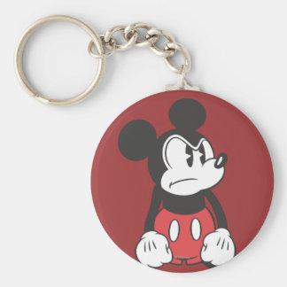 Actitud enojada clásica de Mickey el | Llavero Redondo Tipo Pin