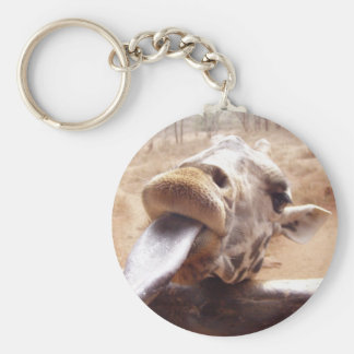 Actitud linda por la jirafa llavero redondo tipo pin