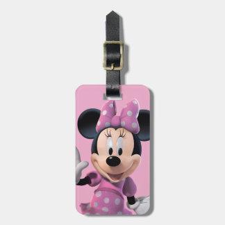 Actitud linda rosada de Minnie el | Etiquetas Bolsa