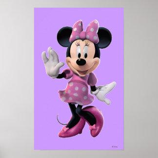 Actitud linda rosada de Minnie el | Póster
