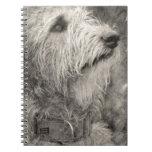 Actitud perfecta del Wolfhound irlandés Libretas Espirales