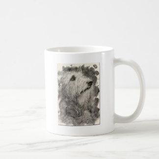 Actitud perfecta del Wolfhound irlandés Taza De Café