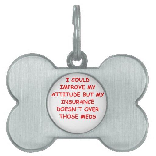actitud placas de nombre de mascota