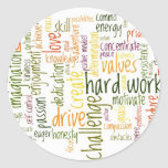 Actitud positiva de motivación de las palabras #2 etiqueta redonda