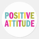 Actitud positiva en colores brillantes pegatina