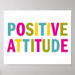 Actitud positiva en colores brillantes poster