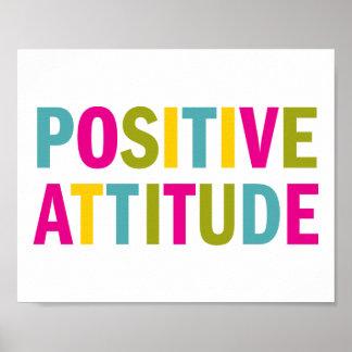 Actitud positiva en colores brillantes póster