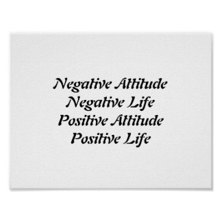 Actitud positiva póster