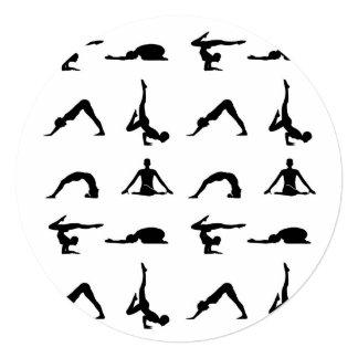 """Actitudes de la yoga invitación 5.25"""" x 5.25"""""""