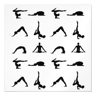 Actitudes de la yoga invitaciones magnéticas