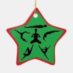 Actitudes de la yoga - ornamentos del navidad ornaments para arbol de navidad