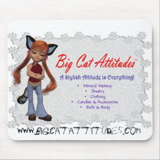 Actitudes Mousepad del gato grande