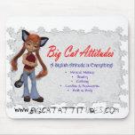 Actitudes Mousepad del gato grande Tapete De Ratones