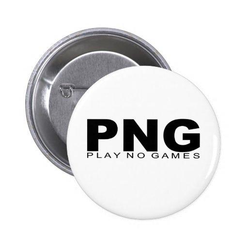 "Actitudes - ""no juegue a ningún juego "" pins"
