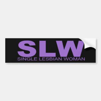 "Actitudes - ""sola mujer lesbiana "" pegatina para auto"