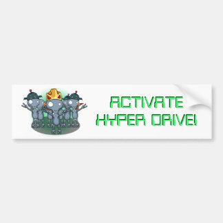 Activate Hyper Drive Bumper Sticker Car Bumper Sticker
