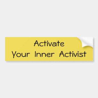 Activate - T-shirt Bumper Sticker