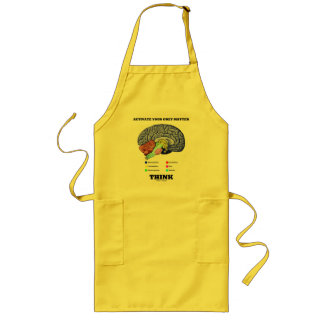 Activate Your Grey Matter Think (Anatomical Brain) Long Apron