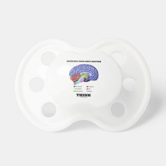 Activate Your Grey Matter Think (Anatomical Brain) Pacifiers