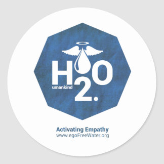 Activating Empathy Humankind 2.0 by egoFree Water Stickers
