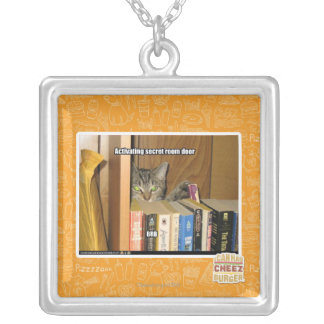 Activating Secret Room Door Silver Plated Necklace