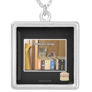 Activating Secret Room Door Silver Plated Necklace
