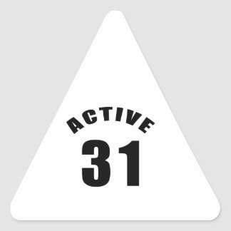 Active 31 Birthday Triangle Stickers
