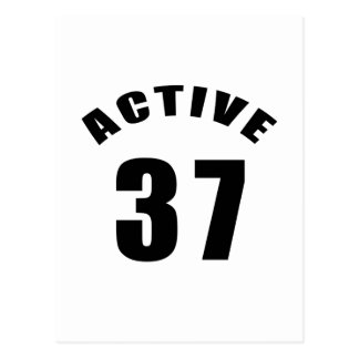 Active 37 Birthday Post Cards