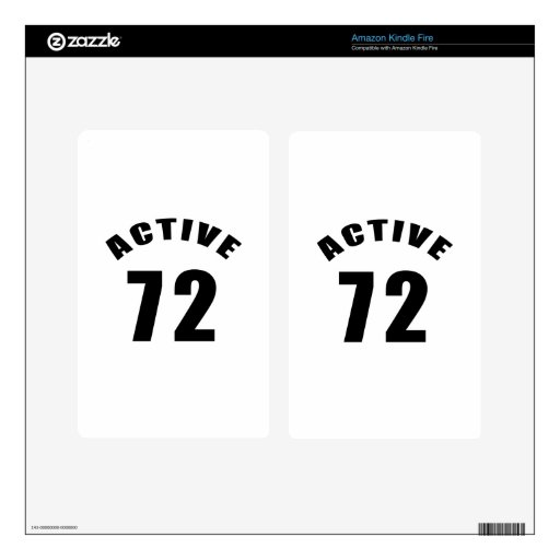 Active 72 Birthday Decals For Kindle Fire