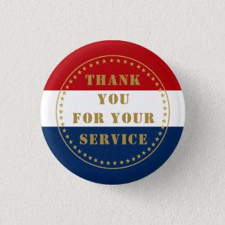Active Duty Veteran Military Police Fire Thank You Button
