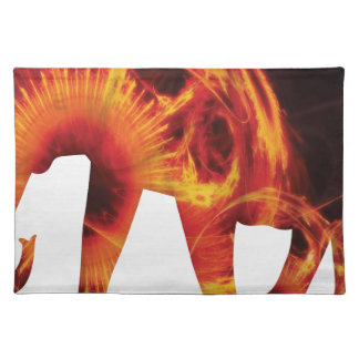 Active Elements Fresh and inspiring Elephant Art – Cloth Placemat