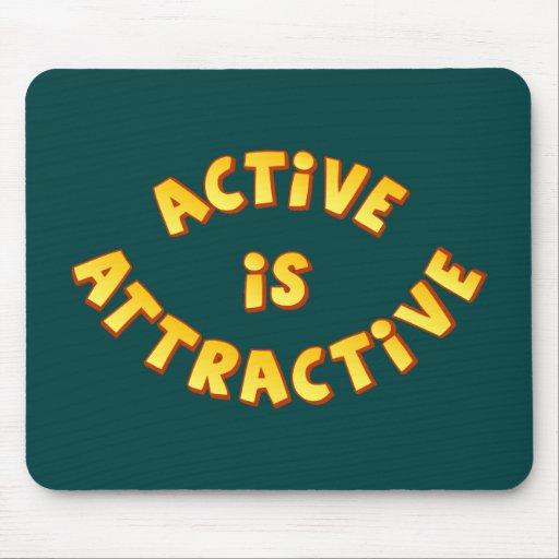 Active Is Attractive Dark Mousepad