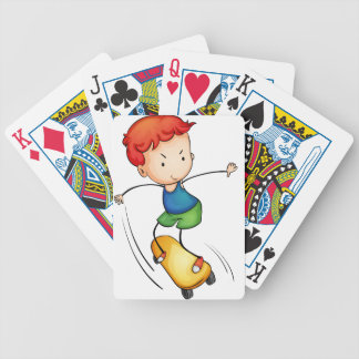 Active kid bicycle playing cards