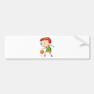 Active kid car bumper sticker
