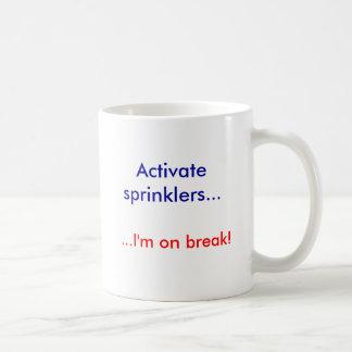 ¡Active las regaderas…,… yo están en rotura! Tazas