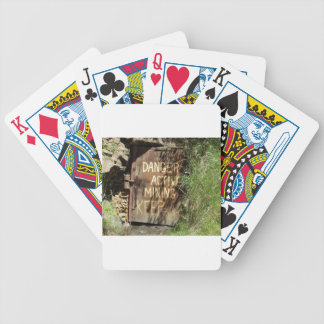 Active Mining Sign Bicycle Playing Cards