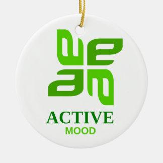 active mood ceramic ornament