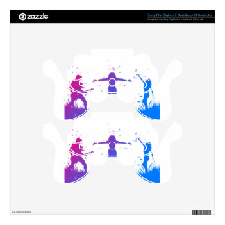 Active people silhouettes skins for PS3 controllers