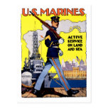 Active Service on Land and Sea Post Cards