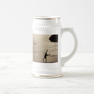 active silhouette coffee mugs