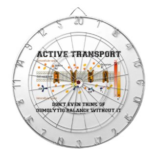 Active Transport Don't Think Of Osmolytic Balance Dartboard With Darts