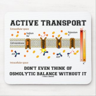 Active Transport Don't Think Of Osmolytic Balance Mouse Pad