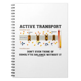 Active Transport Don't Think Of Osmolytic Balance Spiral Notebooks