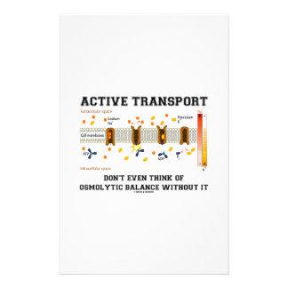 Active Transport Don't Think Of Osmolytic Balance Stationery