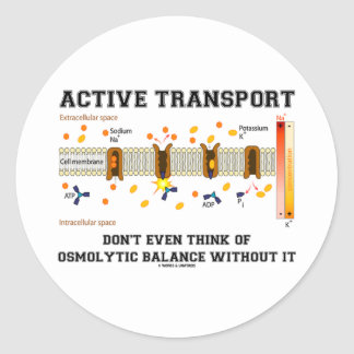 Active Transport Don't Think Of Osmolytic Balance Classic Round Sticker