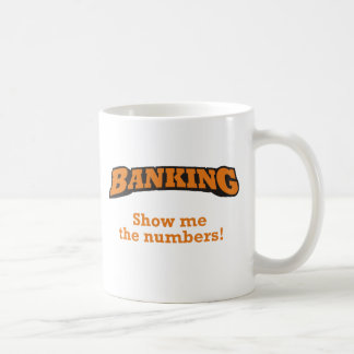 Actividad bancaria/números taza clásica