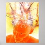 Actividad cerebral, ilustraciones conceptuales del impresiones