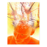 Actividad cerebral, ilustraciones conceptuales del postales