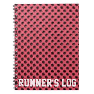 Actividad del registro del corredor spiral notebook